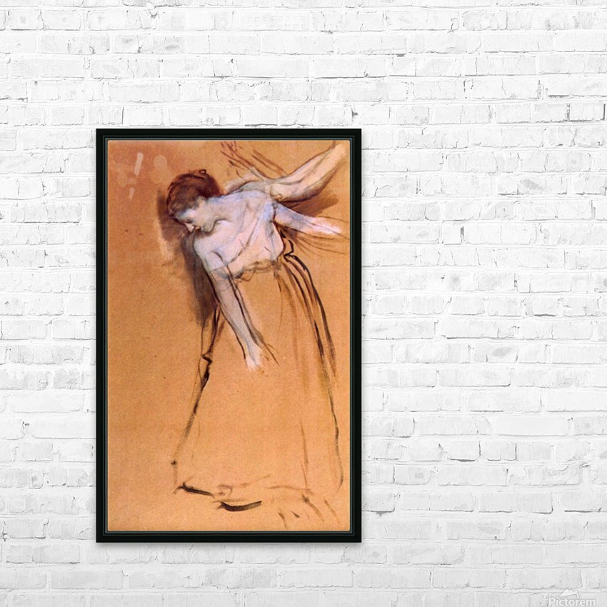 Standing with arms stretched, bent to the side by Degas HD Sublimation Metal print with Decorating Float Frame (BOX)