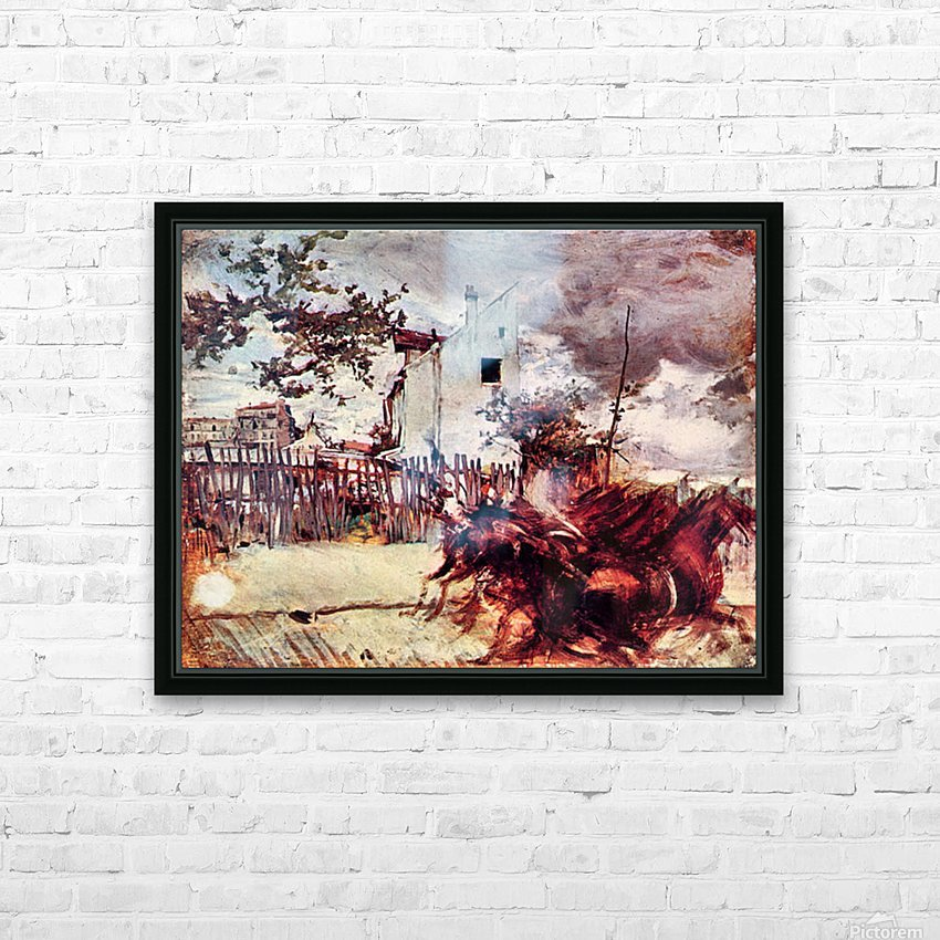 Outskirts of Paris by Giovanni Boldini HD Sublimation Metal print with Decorating Float Frame (BOX)