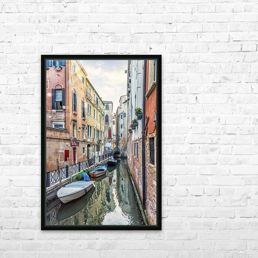 Quiet Venice HD Sublimation Metal print with Decorating Float Frame (BOX)
