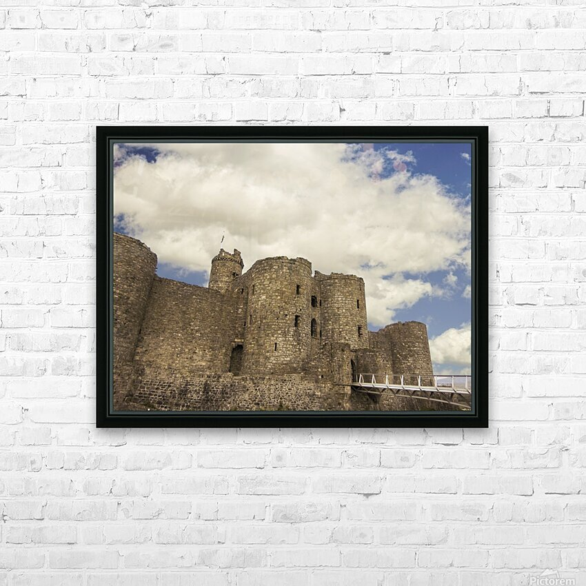 Aberystwyth Castle HD Sublimation Metal print with Decorating Float Frame (BOX)