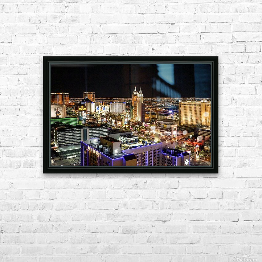 Las Vegas at Night HD Sublimation Metal print with Decorating Float Frame (BOX)