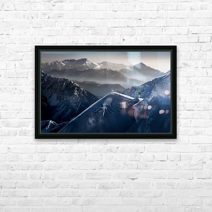 Silent Moments before Descent HD Sublimation Metal print with Decorating Float Frame (BOX)