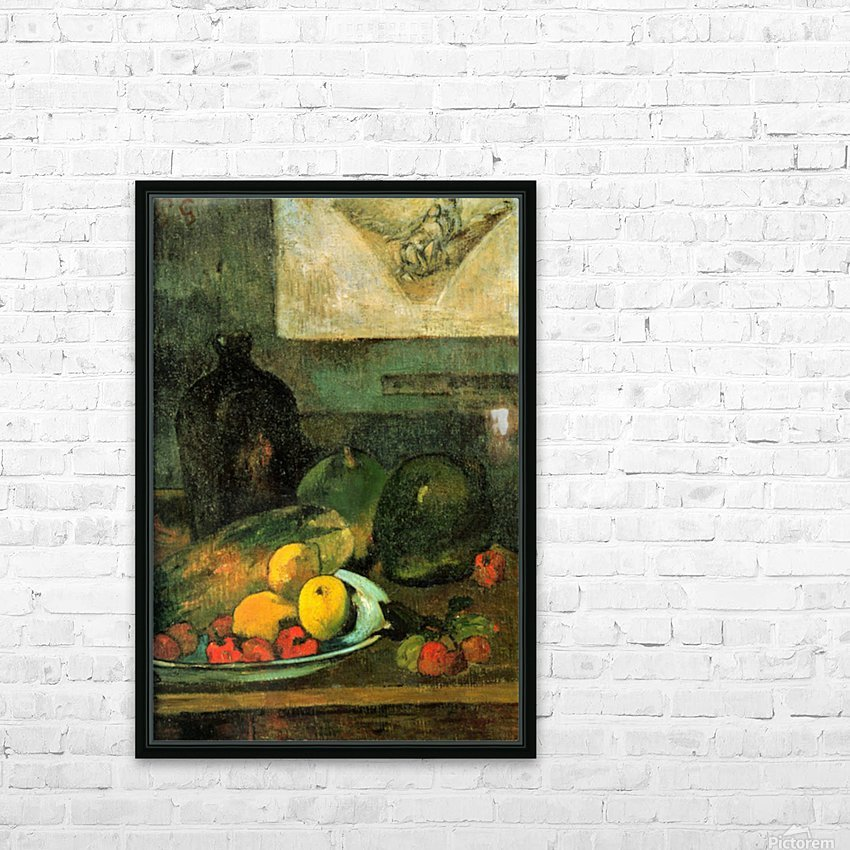 Still Life in Front of a Stich by Gauguin HD Sublimation Metal print with Decorating Float Frame (BOX)