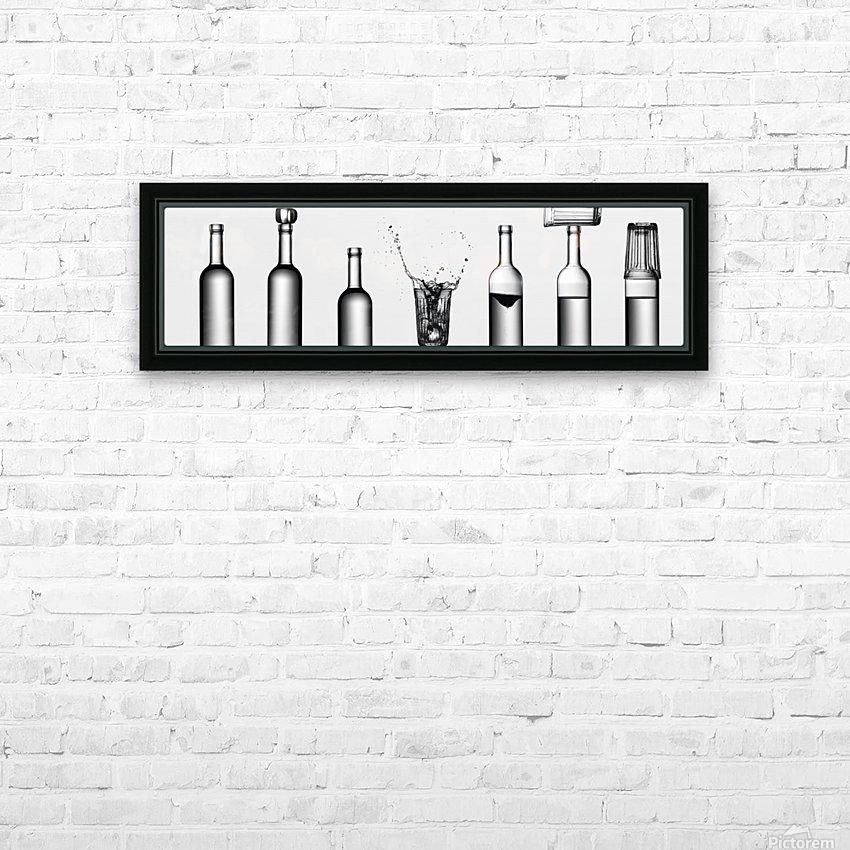 bottles game by Valeriy Kasmasov  HD sublimation métal imprimé avec décoration flotteur cadre (boîte)