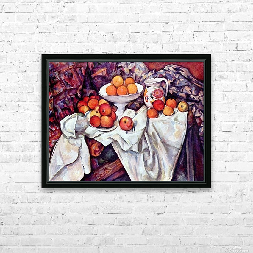 Still Life with Apples and Oranges by Cezanne HD Sublimation Metal print with Decorating Float Frame (BOX)