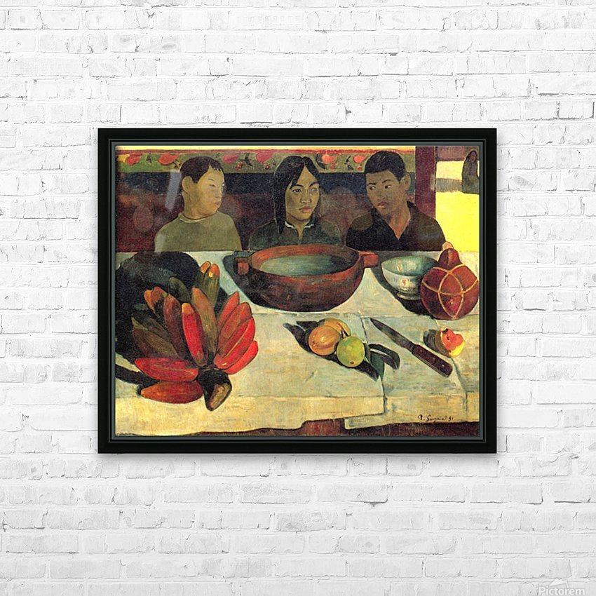 Still Life with Banana by Gauguin HD Sublimation Metal print with Decorating Float Frame (BOX)