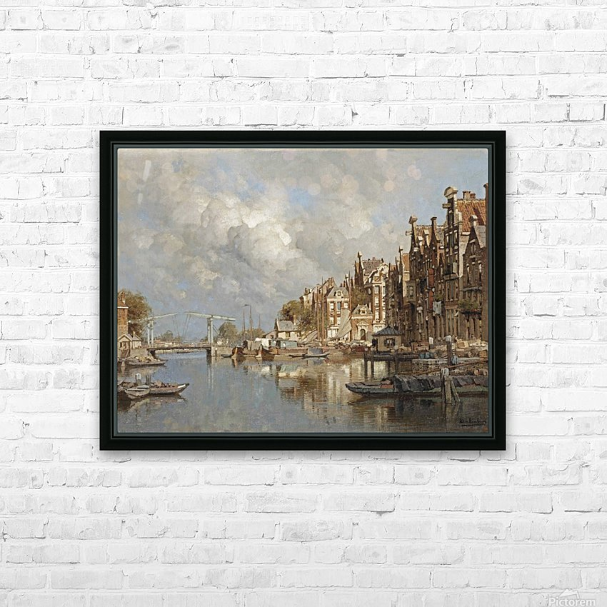 The Haagse Veer, Rotterdam HD Sublimation Metal print with Decorating Float Frame (BOX)