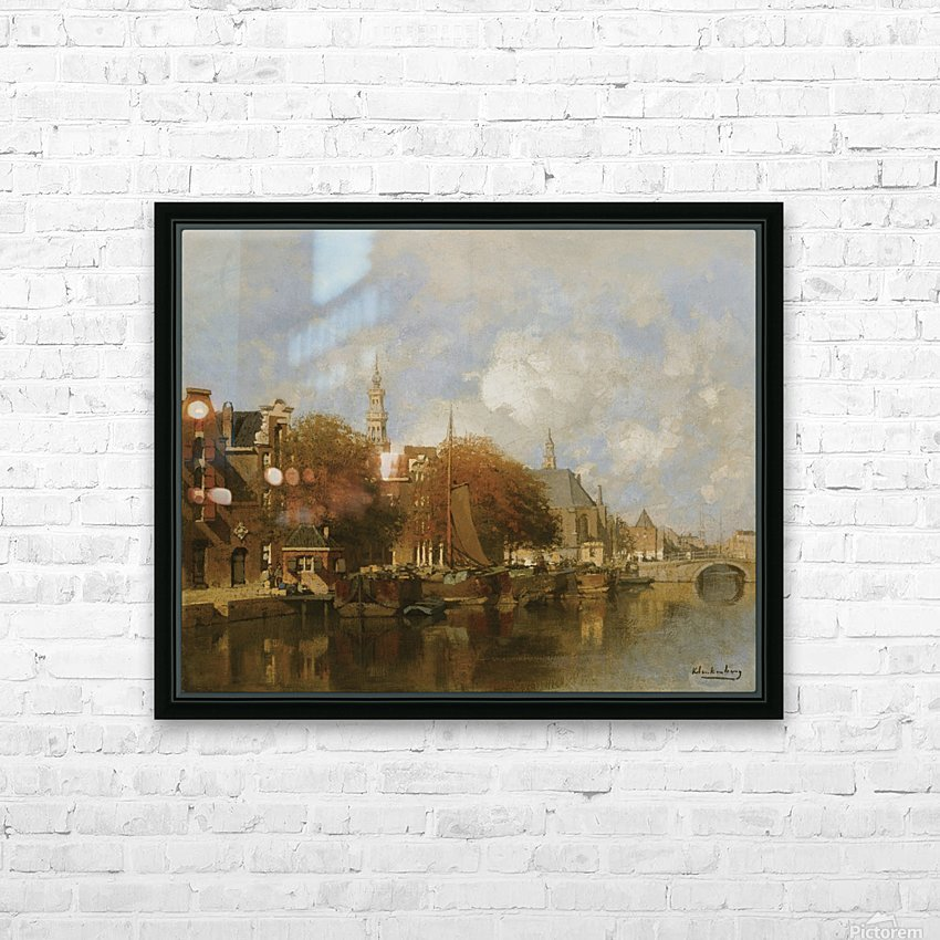 A capriccio view of the Oudezijds Voorburgwal, Amsterdam HD Sublimation Metal print with Decorating Float Frame (BOX)