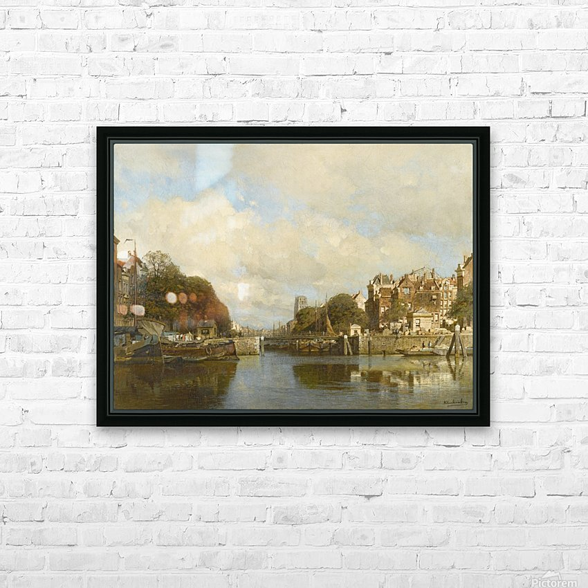 Rotterdam, with the Laurenskerk in the background HD Sublimation Metal print with Decorating Float Frame (BOX)