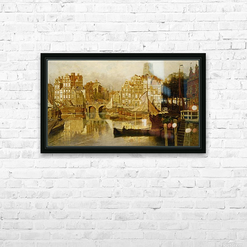 A view of the Blaak Rotterdam HD Sublimation Metal print with Decorating Float Frame (BOX)