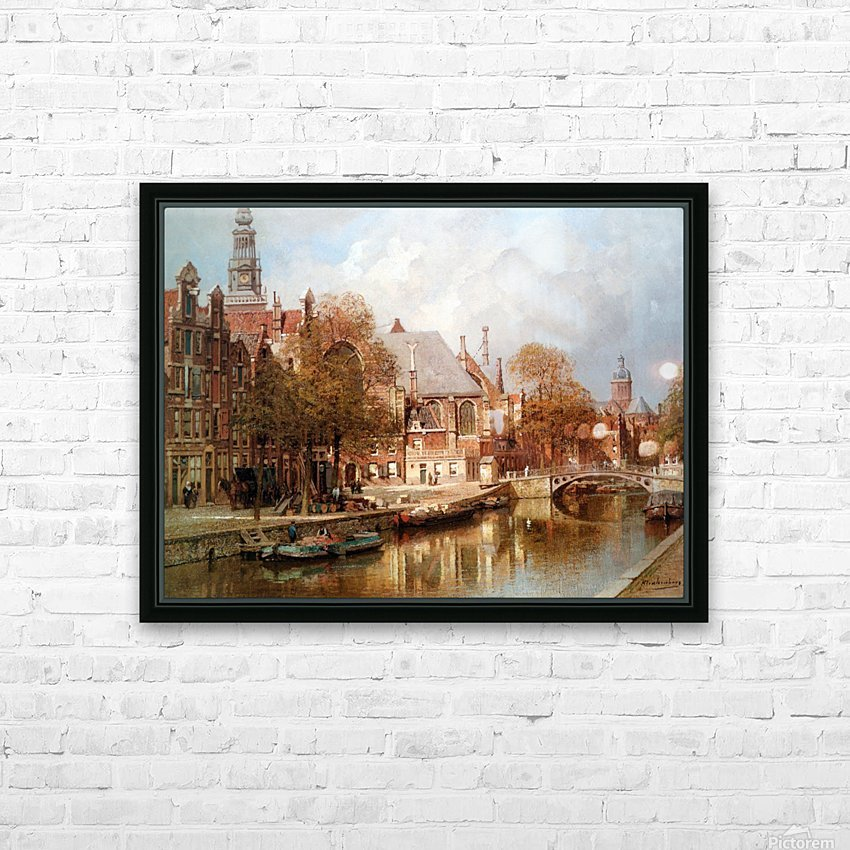 The Oude Kerk and Saint Nicolaaskerk HD Sublimation Metal print with Decorating Float Frame (BOX)