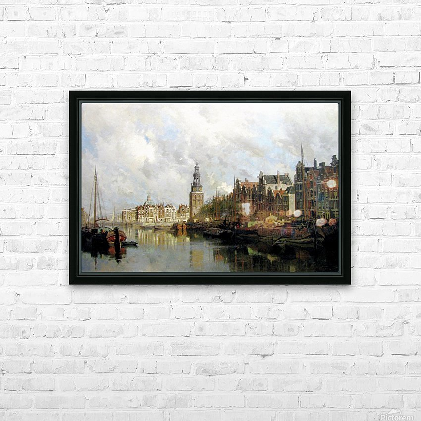 Montelbaanstoren, Amsterdam HD Sublimation Metal print with Decorating Float Frame (BOX)