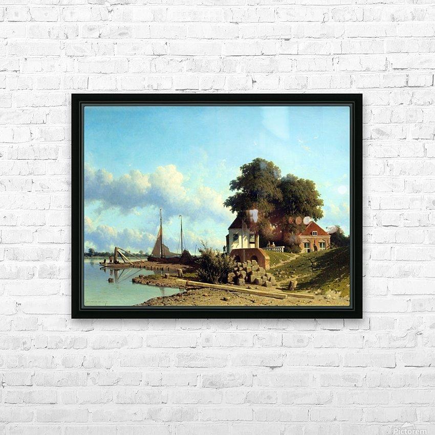 Aan de Lek bij Elshout HD Sublimation Metal print with Decorating Float Frame (BOX)