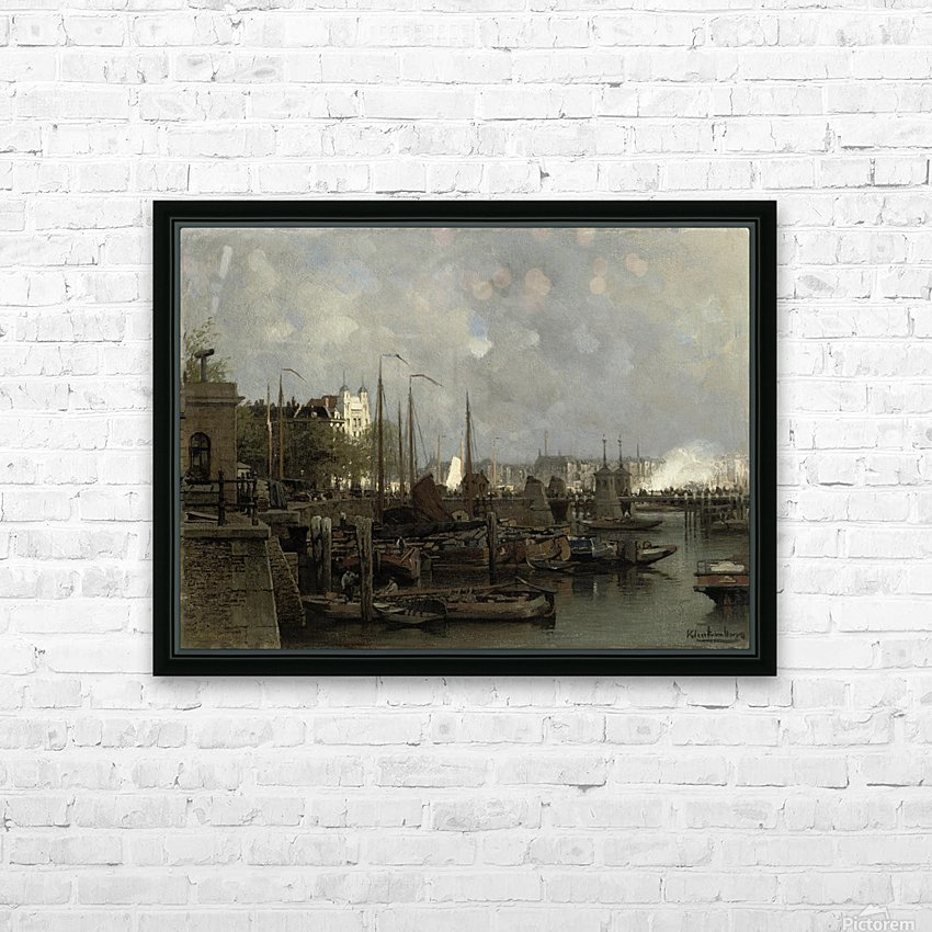Oude haven with the Koningsbrug HD Sublimation Metal print with Decorating Float Frame (BOX)