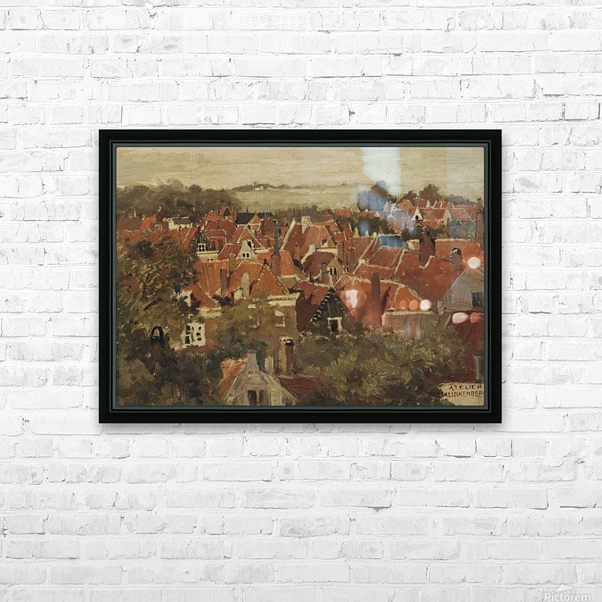 A view of a Dutch town HD Sublimation Metal print with Decorating Float Frame (BOX)