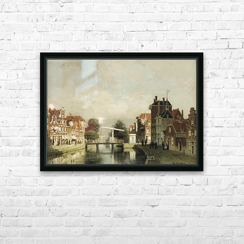 A sunlit canal with a draw-bridge HD Sublimation Metal print with Decorating Float Frame (BOX)