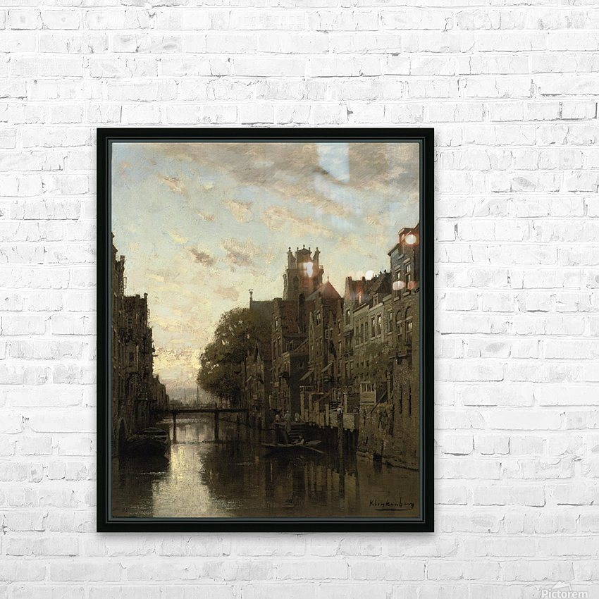 A View of the Voorstraathaven with the Grote Kerk Beyond, Dordrecht HD Sublimation Metal print with Decorating Float Frame (BOX)