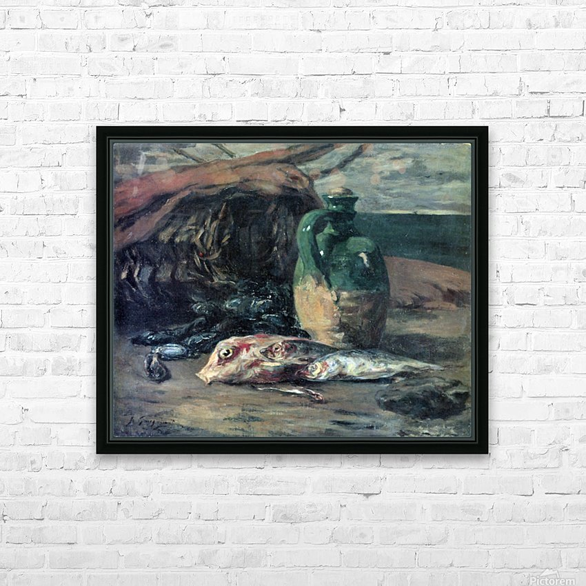 Still Life with Fish by Gauguin HD Sublimation Metal print with Decorating Float Frame (BOX)