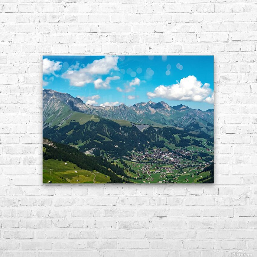 The Bernese Alps Switzerland HD Sublimation Metal print with Decorating Float Frame (BOX)