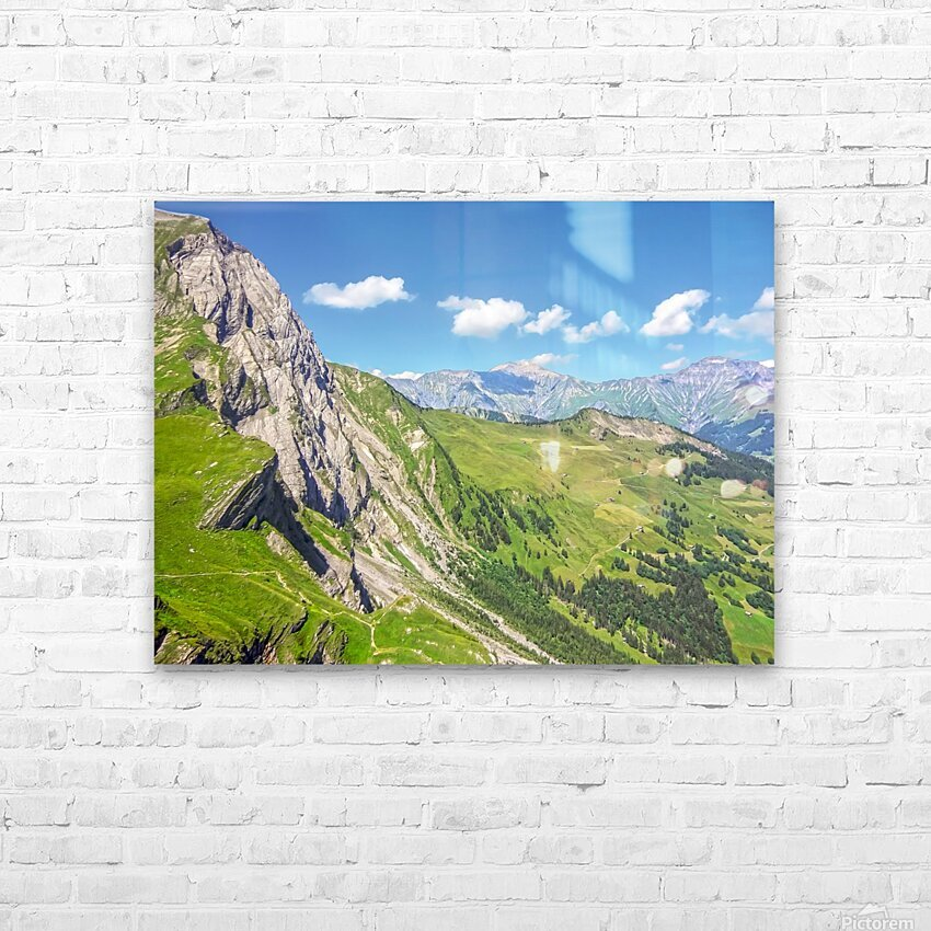 Deep in the Swiss Highlands HD Sublimation Metal print with Decorating Float Frame (BOX)