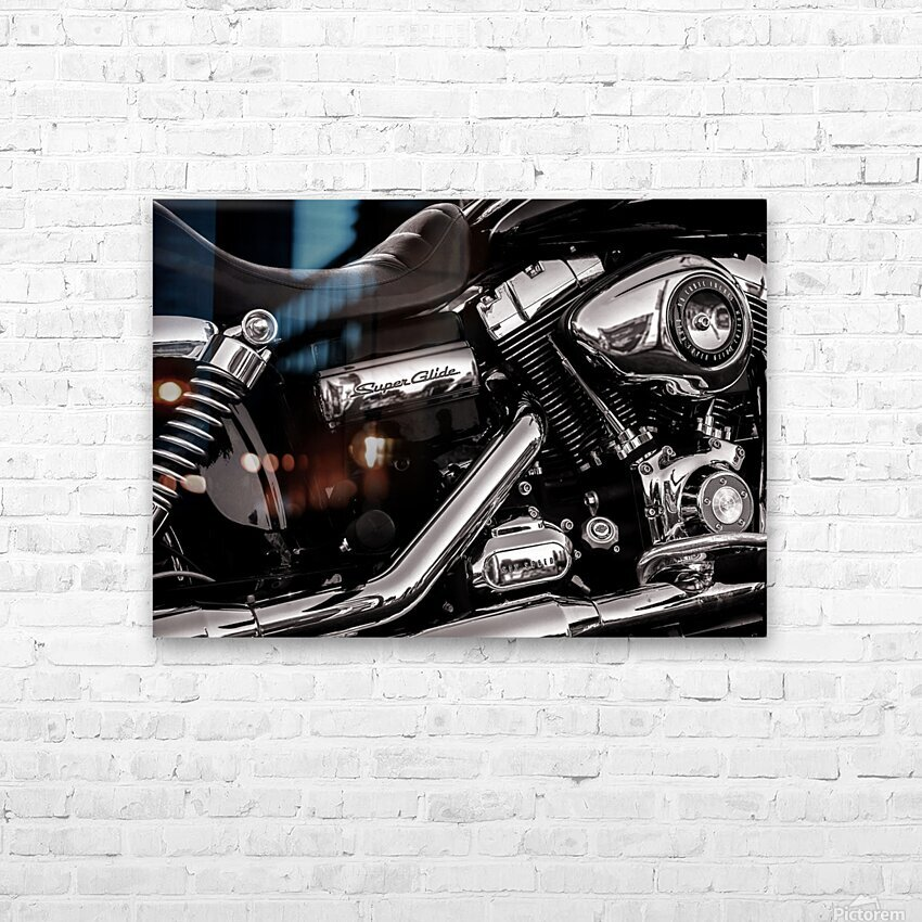 Motorcycle Number 1 HD Sublimation Metal print with Decorating Float Frame (BOX)