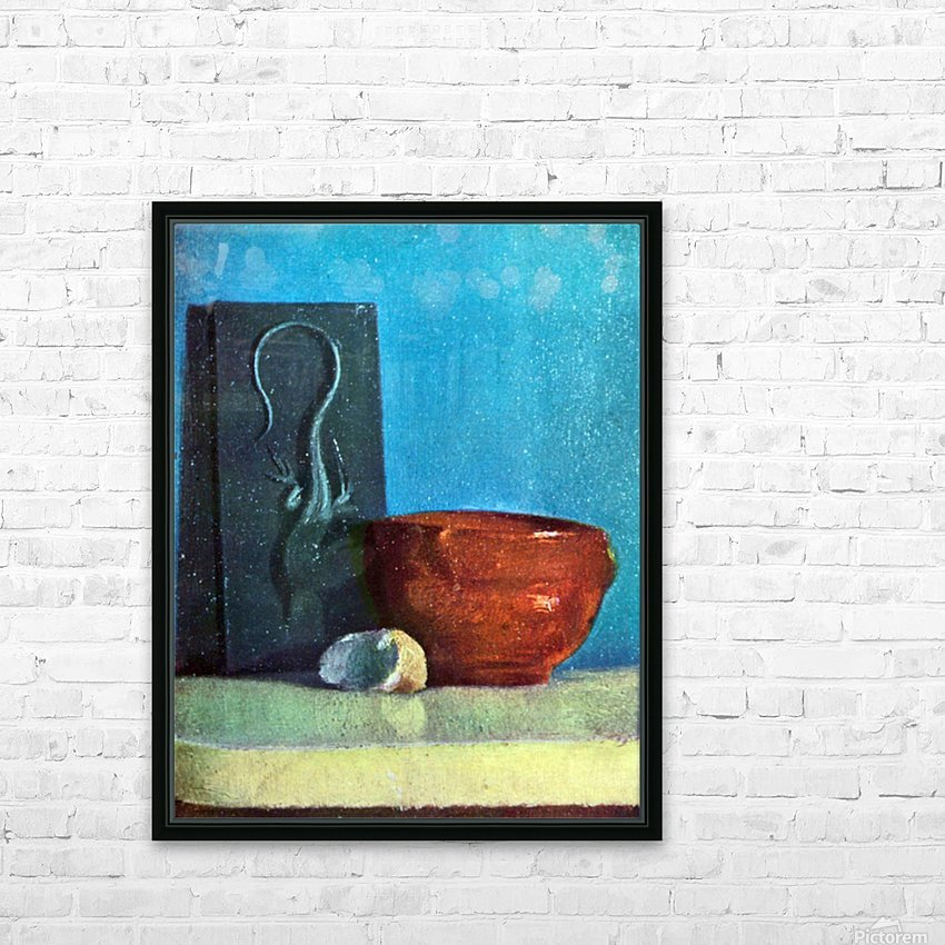 Still Life with lizard by Degas HD Sublimation Metal print with Decorating Float Frame (BOX)