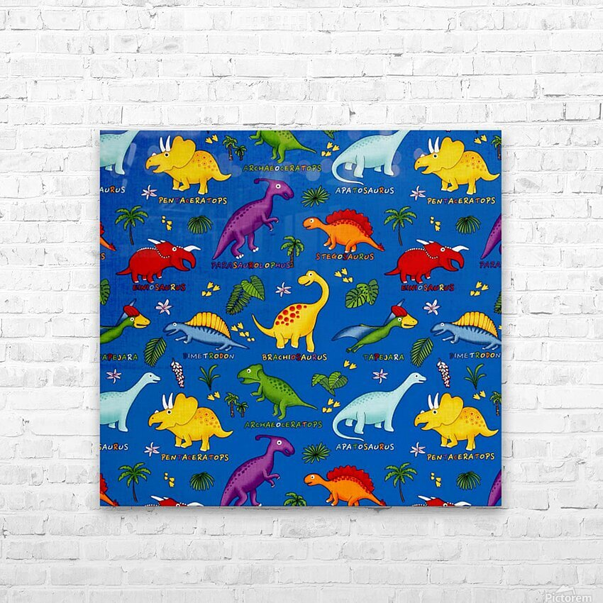 Dinosaurs Royal-Multi HD Sublimation Metal print with Decorating Float Frame (BOX)