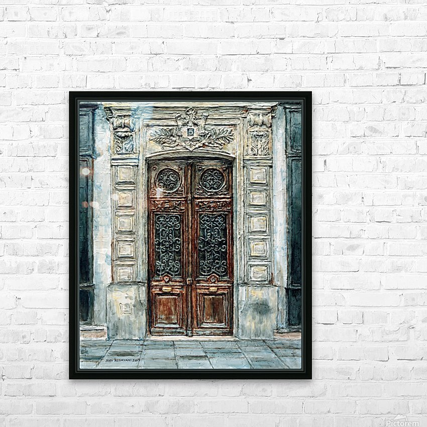 Parisian Door N0. 5-3 HD Sublimation Metal print with Decorating Float Frame (BOX)