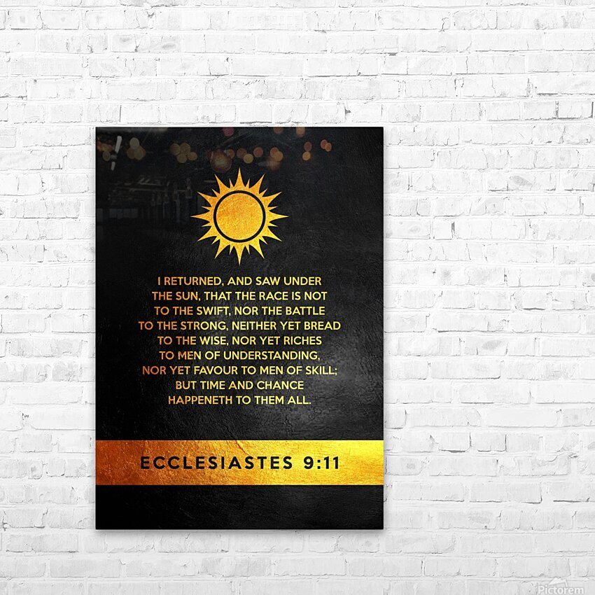 Ecclesiastes 9:11 Bible Verse Wall Art HD Sublimation Metal print with Decorating Float Frame (BOX)