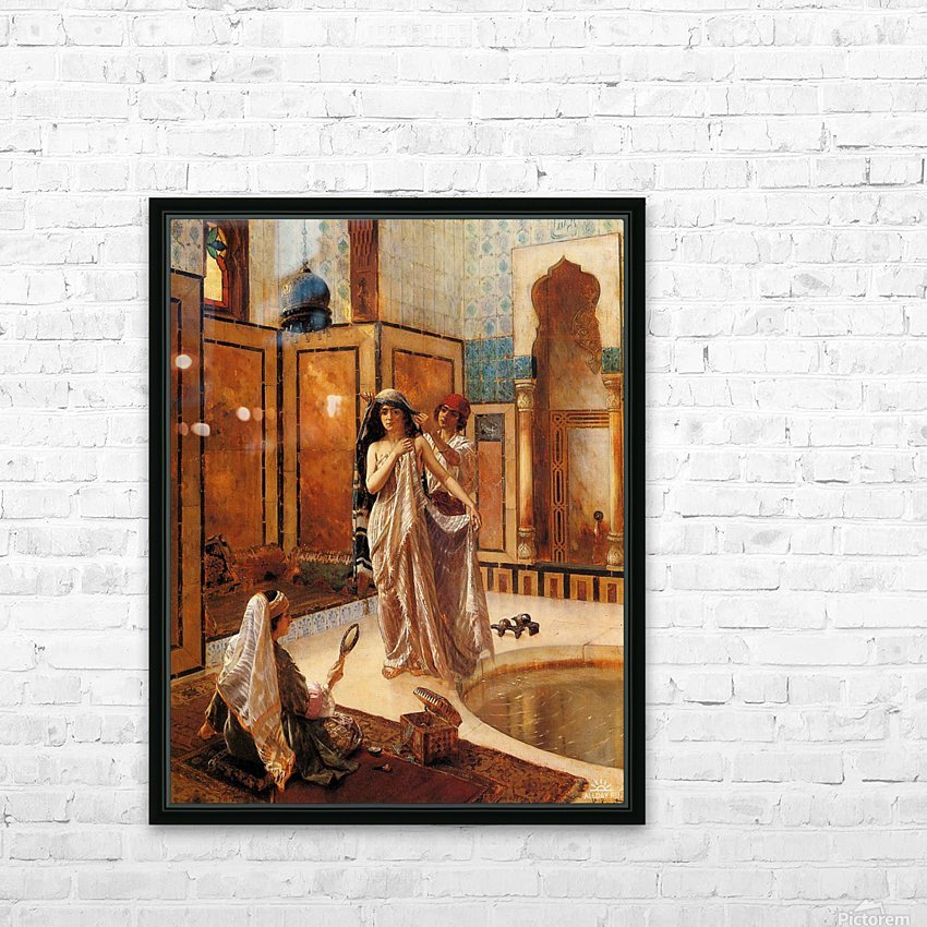 The harem bath HD Sublimation Metal print with Decorating Float Frame (BOX)