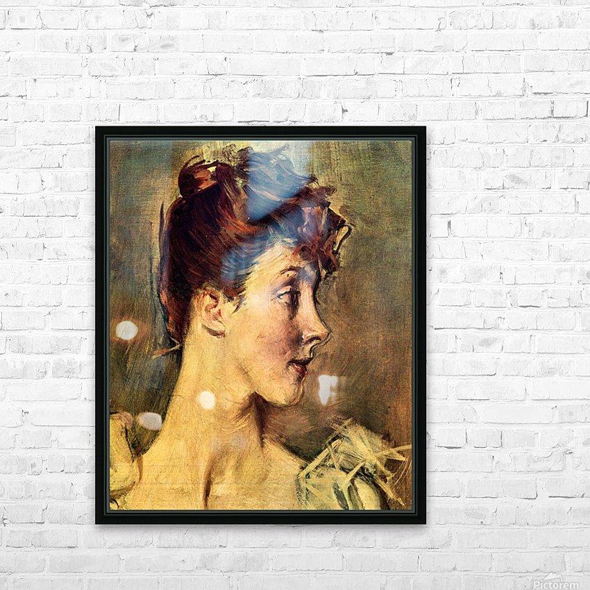 Portrait of Countess de Leusse, detail by Giovanni Boldini HD Sublimation Metal print with Decorating Float Frame (BOX)