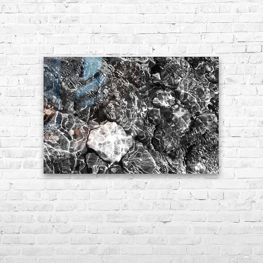 Water Colors ap 1776 B&W HD Sublimation Metal print with Decorating Float Frame (BOX)