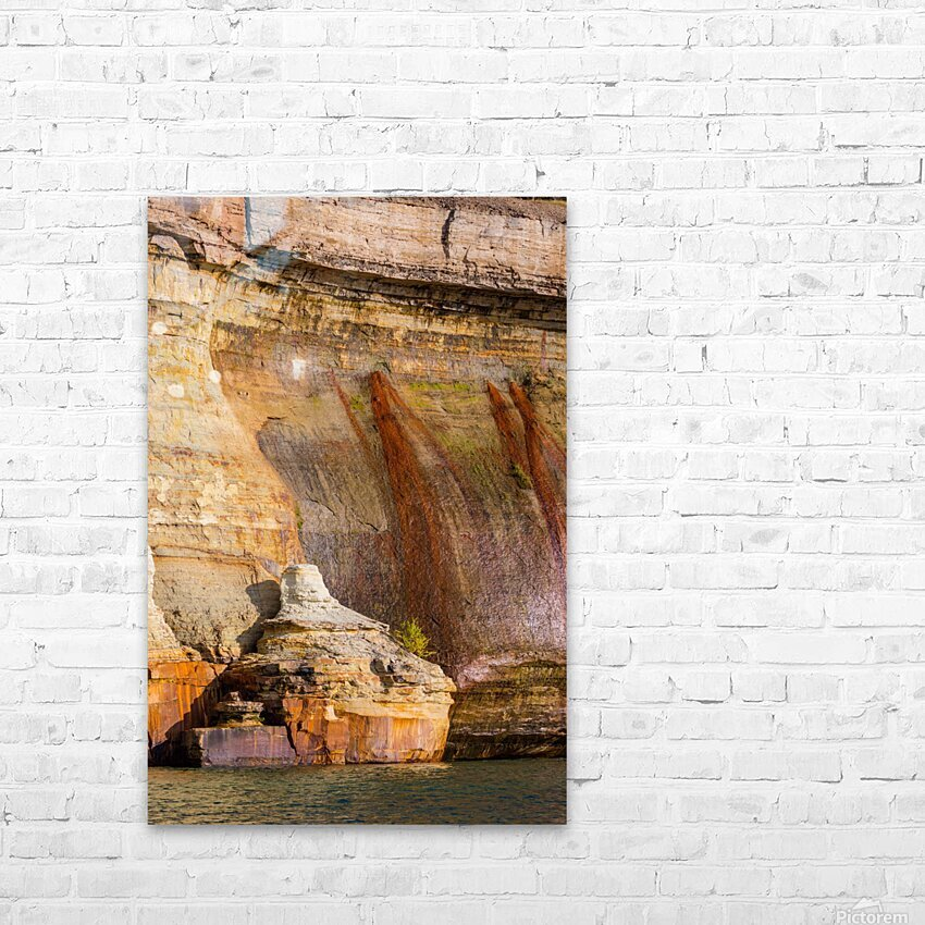 Pictured Rocks ap 2508 HD Sublimation Metal print with Decorating Float Frame (BOX)