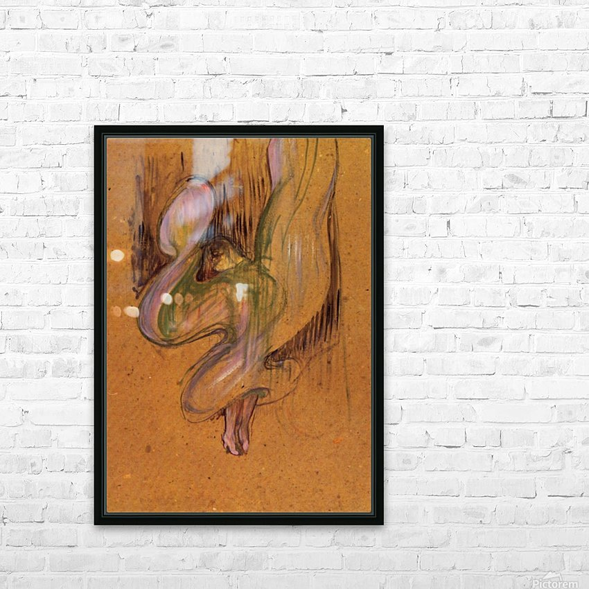 Study for Loie Fuller by Toulouse-Lautrec HD Sublimation Metal print with Decorating Float Frame (BOX)