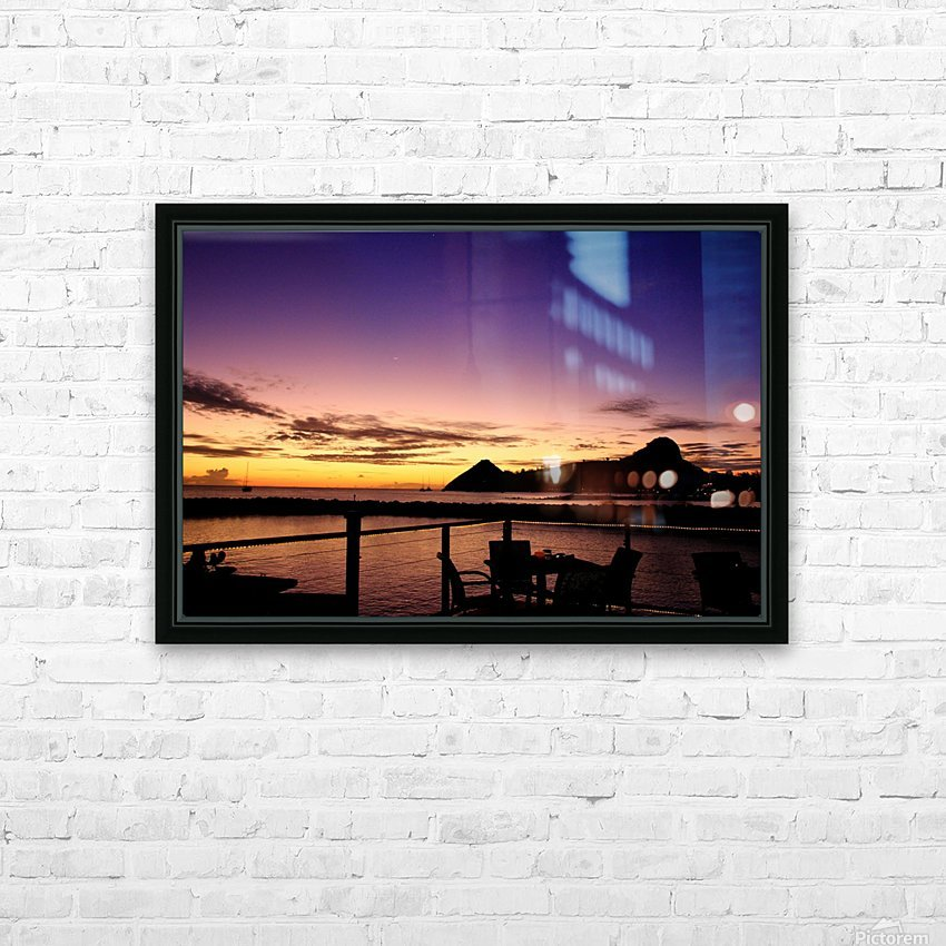 Sunset at The Landings HD Sublimation Metal print with Decorating Float Frame (BOX)