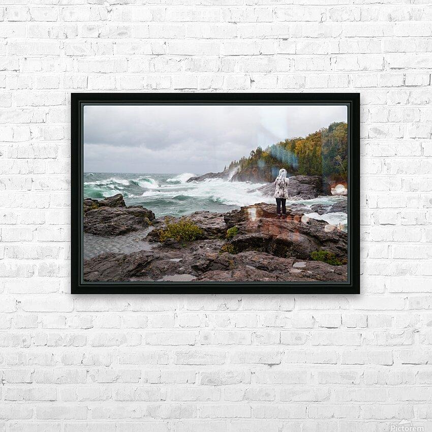 Crashing Waves ap 2605 HD Sublimation Metal print with Decorating Float Frame (BOX)