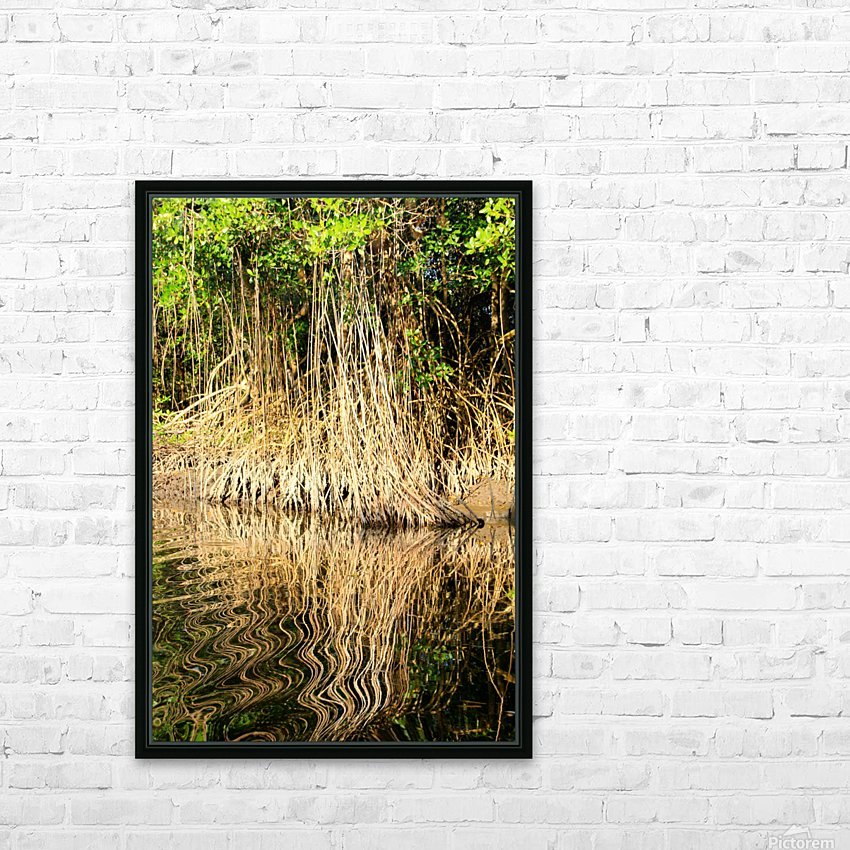 Mangrove roots HD Sublimation Metal print with Decorating Float Frame (BOX)