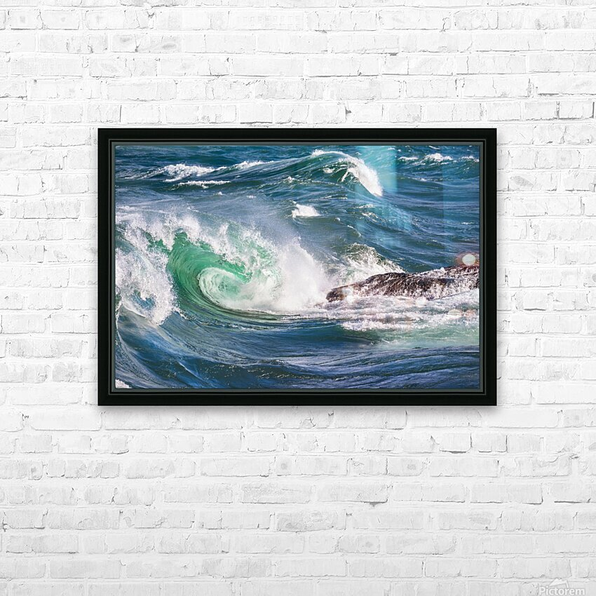 Wave Curl ap 2663 HD Sublimation Metal print with Decorating Float Frame (BOX)