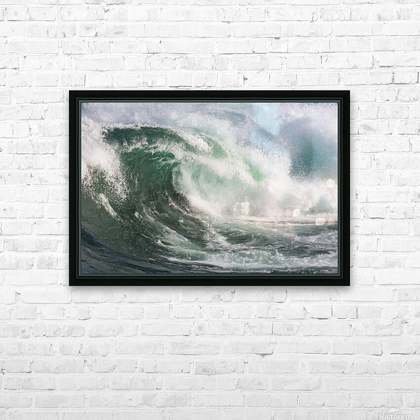 Wave Curl ap 2672 HD Sublimation Metal print with Decorating Float Frame (BOX)