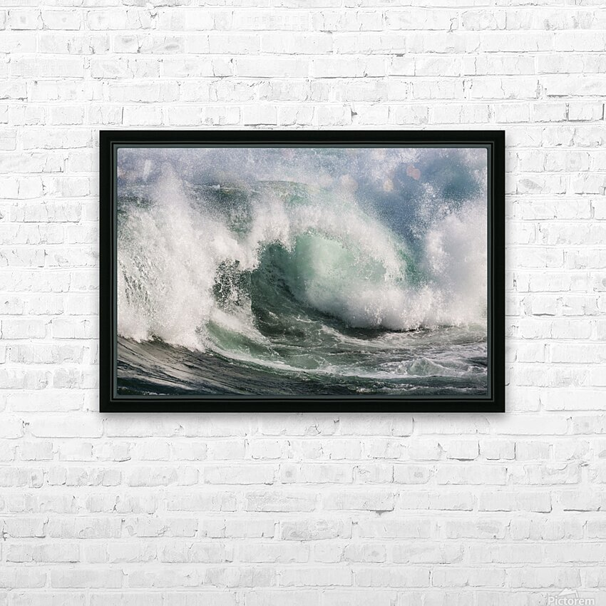 Wave Curl ap 2674 HD Sublimation Metal print with Decorating Float Frame (BOX)