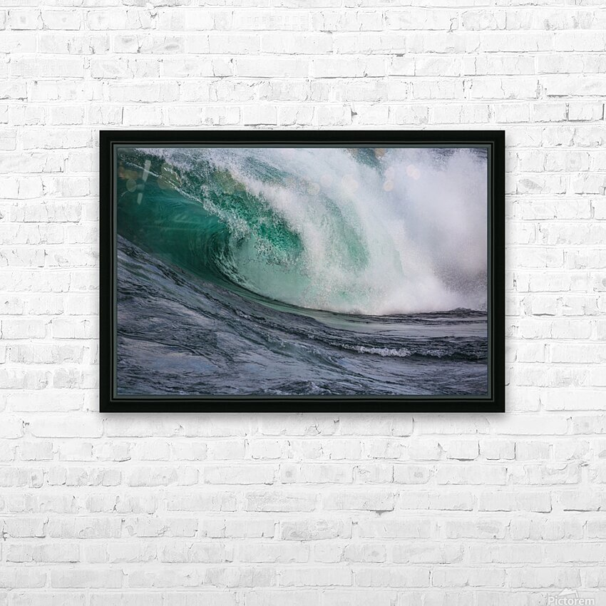 Wave Curl ap 2681 HD Sublimation Metal print with Decorating Float Frame (BOX)