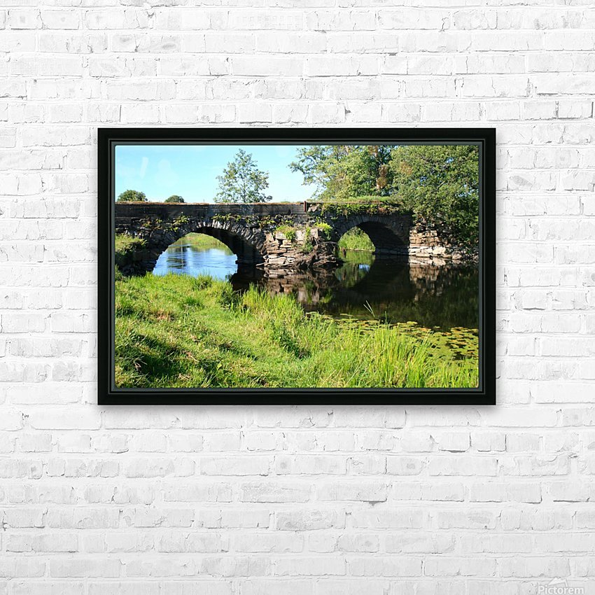 Countryside bridge   Sweden HD Sublimation Metal print with Decorating Float Frame (BOX)