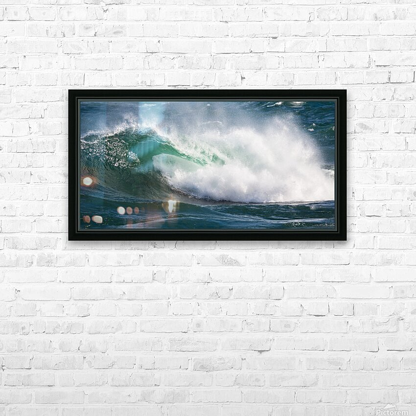 Wave Curl ap 2668 HD Sublimation Metal print with Decorating Float Frame (BOX)