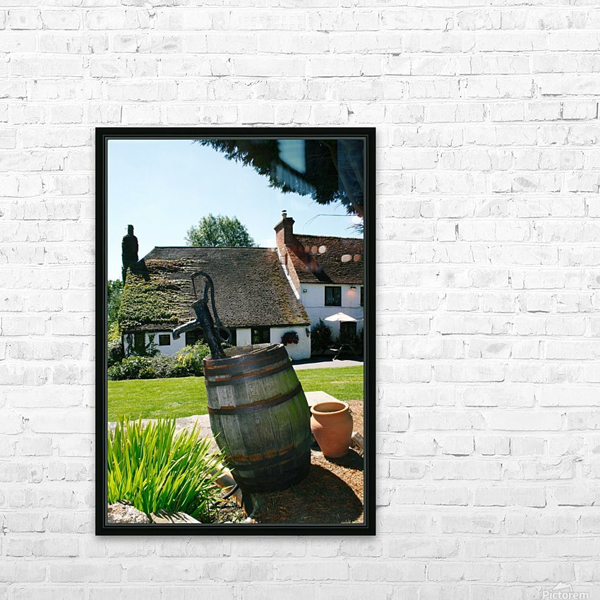English countryside pub HD Sublimation Metal print with Decorating Float Frame (BOX)