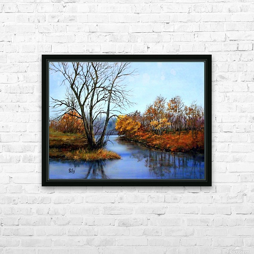 Autumns End HD Sublimation Metal print with Decorating Float Frame (BOX)