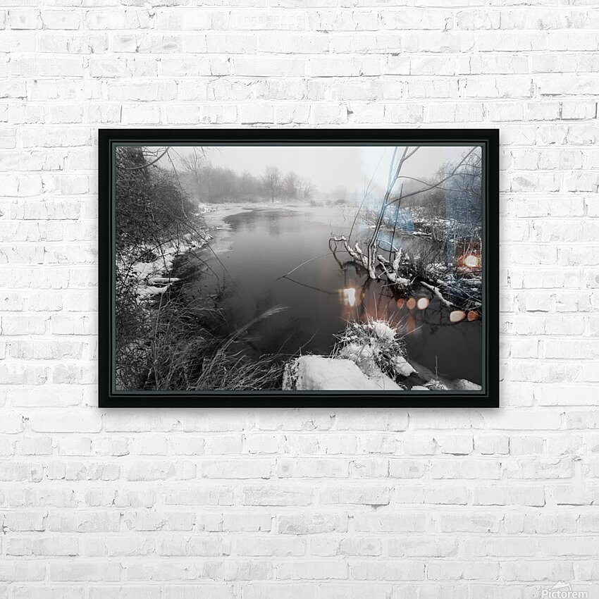 Snow Storm ap 2706 HD Sublimation Metal print with Decorating Float Frame (BOX)