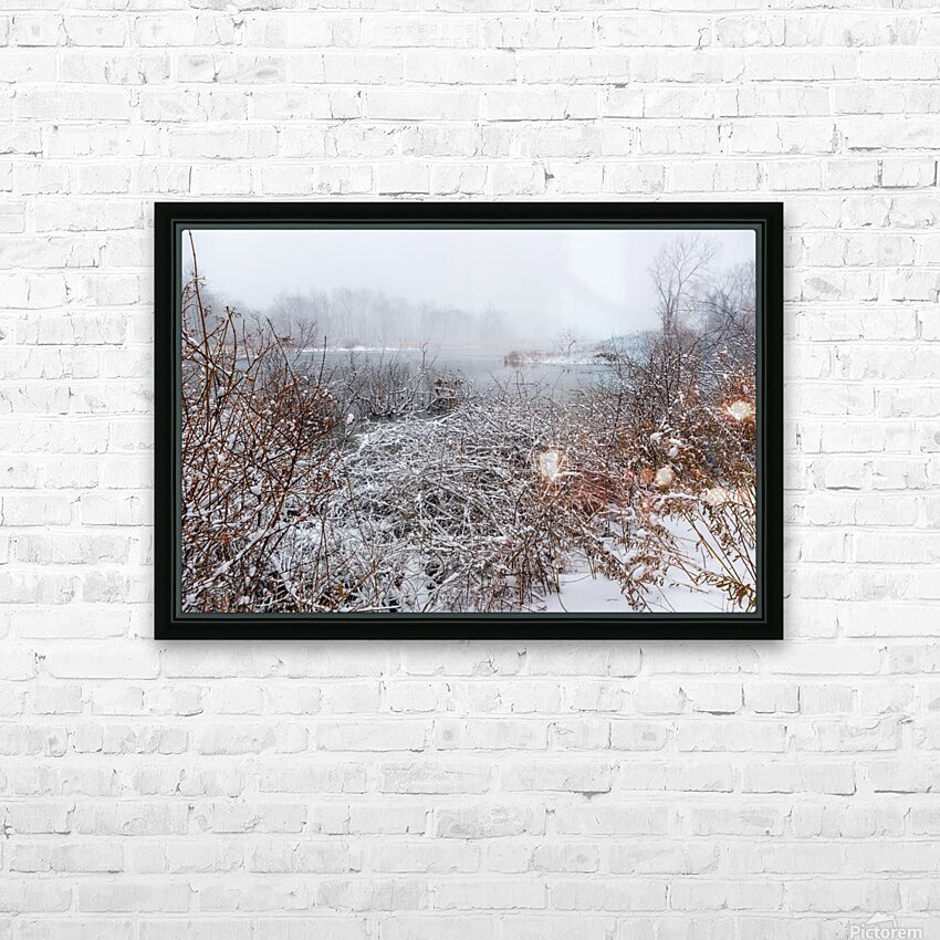 Winter ap 2708 HD Sublimation Metal print with Decorating Float Frame (BOX)