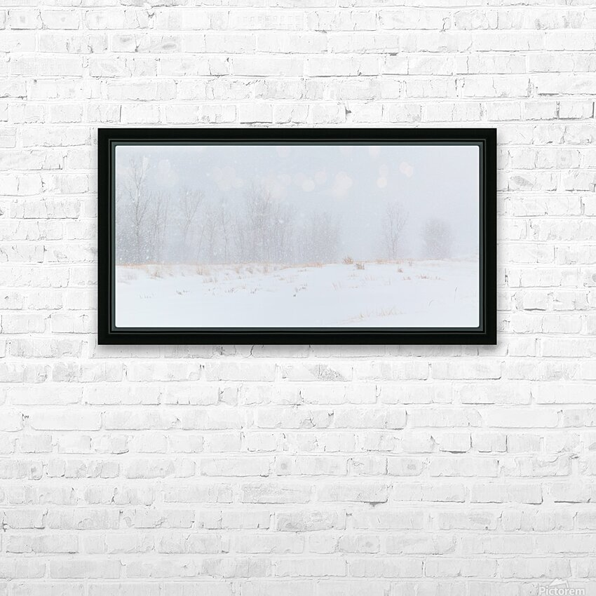 Snow ap 1989 HD Sublimation Metal print with Decorating Float Frame (BOX)