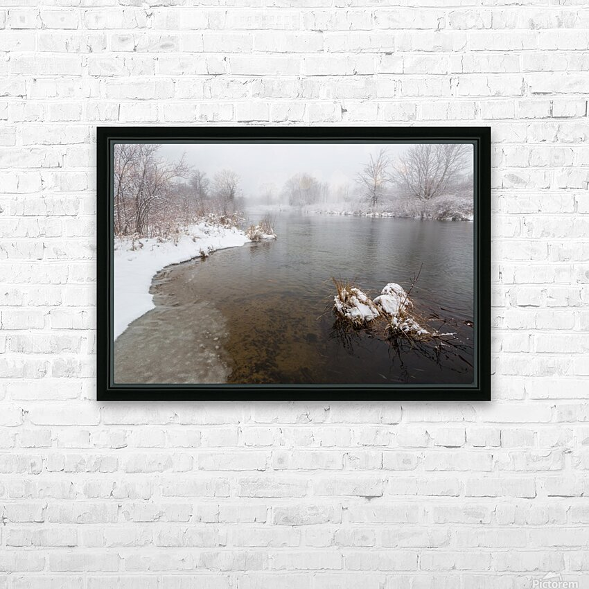 Snow Storm ap 2710 HD Sublimation Metal print with Decorating Float Frame (BOX)