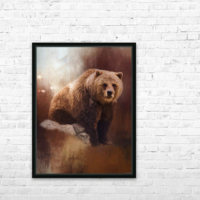 Great Strength - Grizzly Bear Art by Jordan Blackstone HD Sublimation Metal print with Decorating Float Frame (BOX)